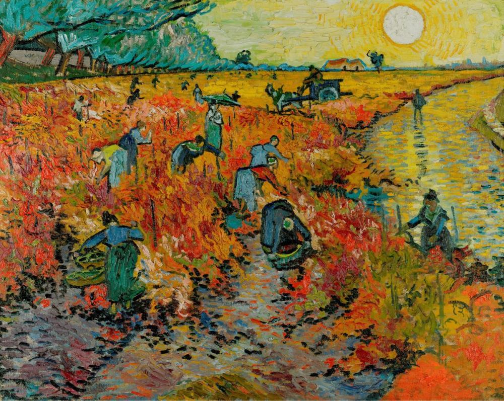 Vincent van Gogh, Arles te Kırmızı Üzüm Bağı, Kanvas Tablo, Vincent Van Gogh, kanvas tablo, canvas print sales