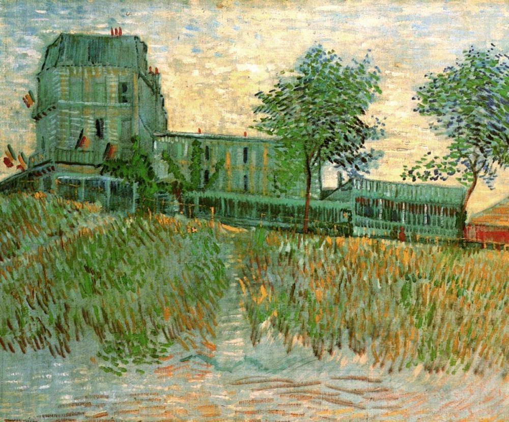 Vincent van Gogh, Restaurant de la Sirene at Asnieres, Canvas, Vincent Van Gogh, kanvas tablo, canvas print sales