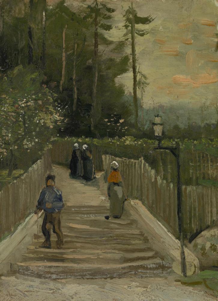 Vincent van Gogh, Road to Montmartre, Canvas, Vincent Van Gogh, kanvas tablo, canvas print sales