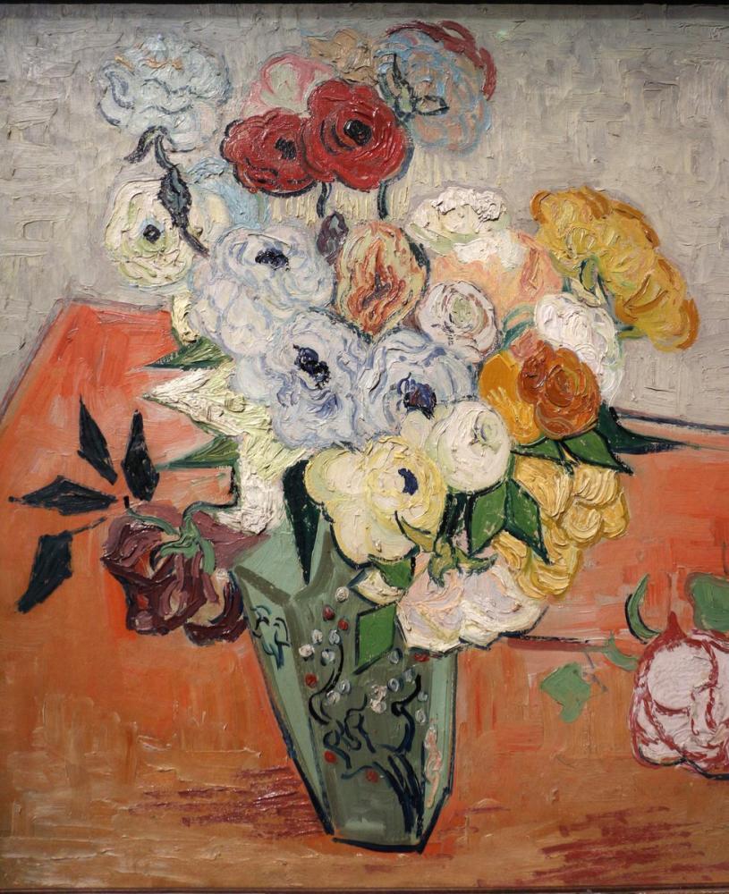 Vincent van Gogh, Gül ve Anemon, Kanvas Tablo, Vincent Van Gogh, kanvas tablo, canvas print sales