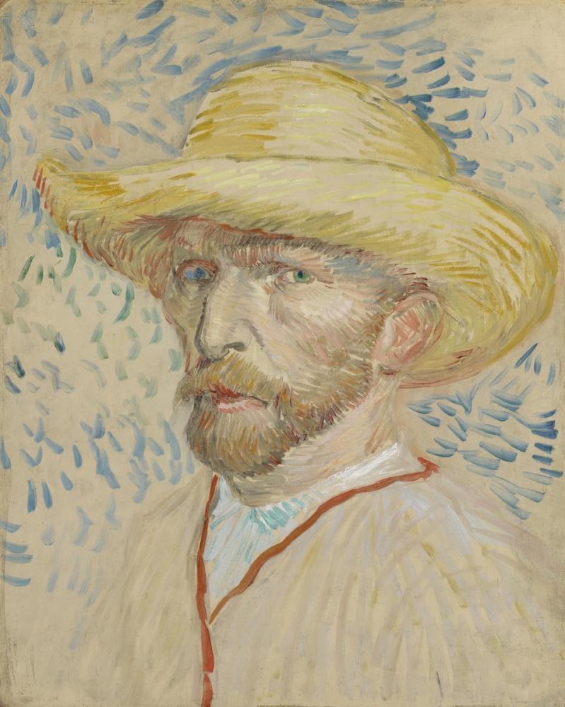 Vincent van Gogh, Self Portrait met Strohoed, Canvas, Vincent Van Gogh, kanvas tablo, canvas print sales