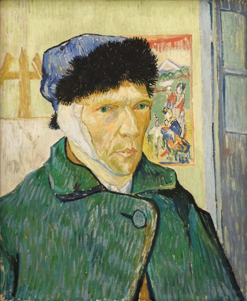 Vincent van Gogh, Bandajlı Bir Kulak ile Otoportre, Kanvas Tablo, Vincent Van Gogh, kanvas tablo, canvas print sales