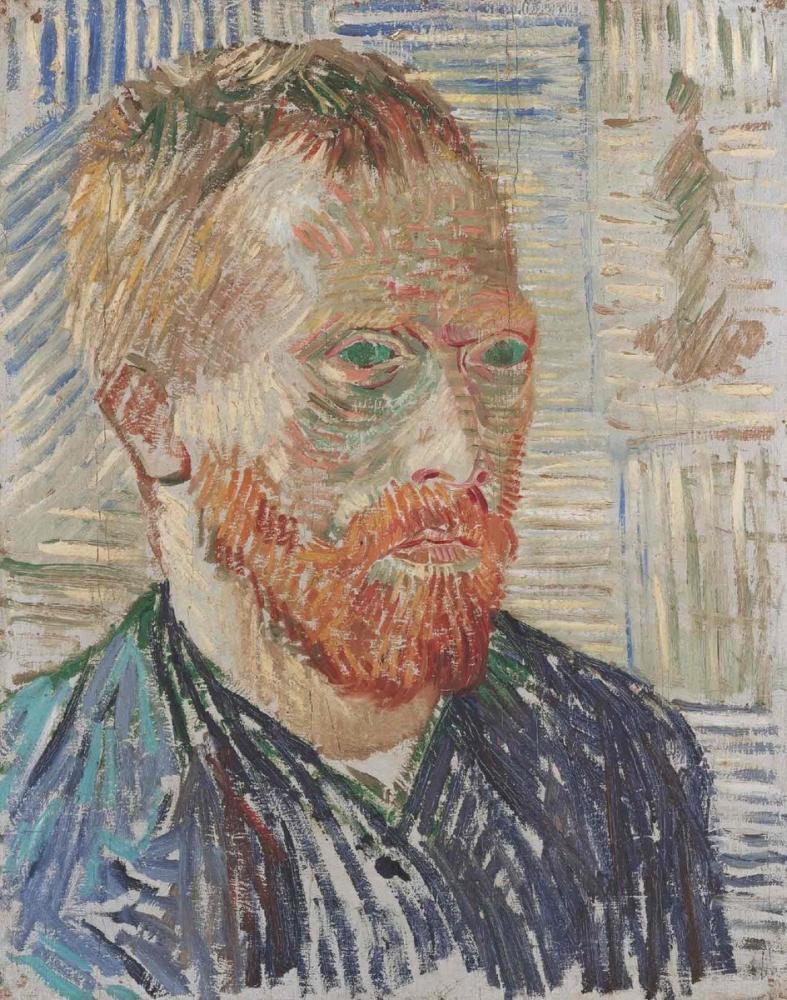 Vincent van Gogh, Self Portrait with Japanese Print, Canvas, Vincent Van Gogh, kanvas tablo, canvas print sales