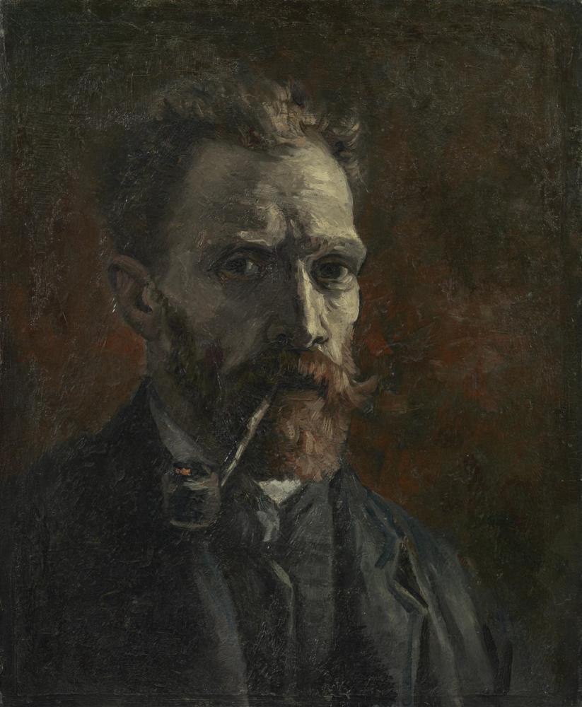 Vincent van Gogh, Self Portrait with Pipe, Canvas, Vincent Van Gogh, kanvas tablo, canvas print sales