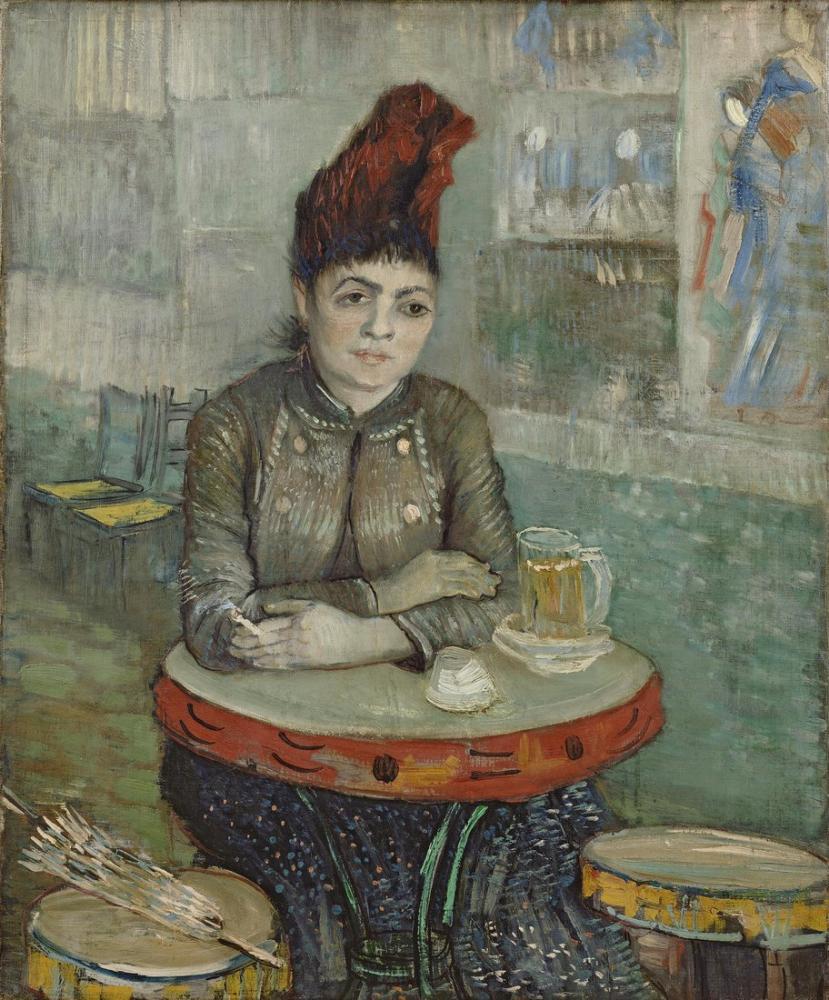 Vincent Van Gogh Agostina Segatori Sitting in the Café du Tambourin, Canvas, Vincent Van Gogh