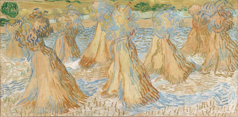 Vincent van Gogh, Sheaves of Wheat, Canvas, Vincent Van Gogh, kanvas tablo, canvas print sales