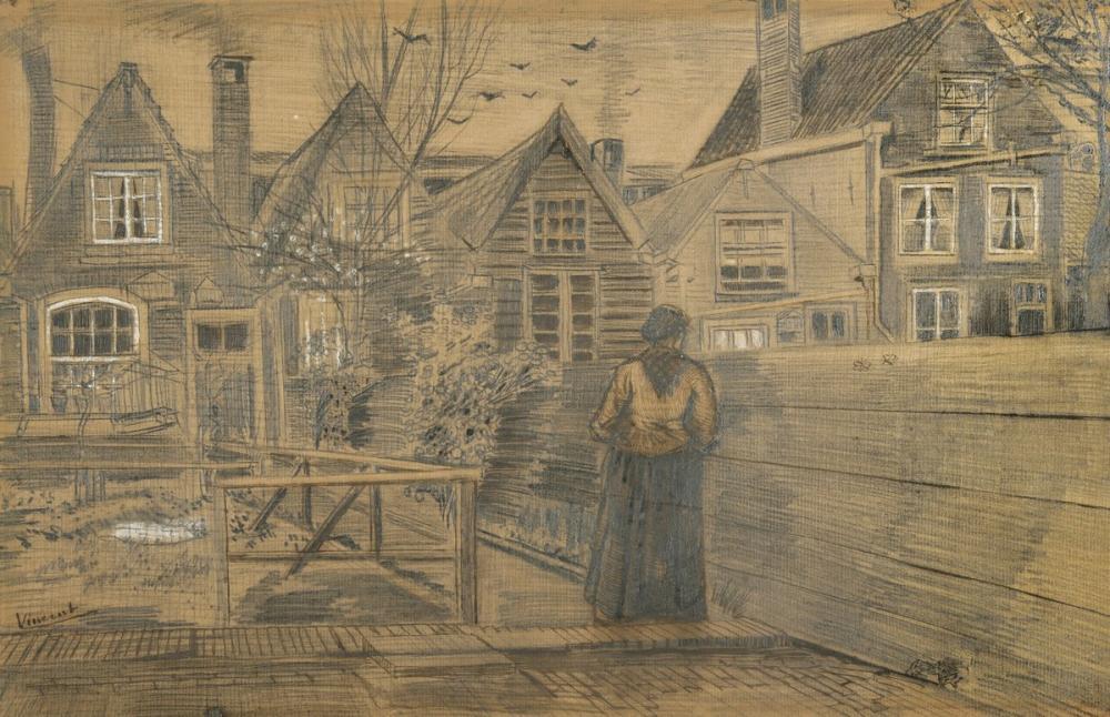 Vincent van Gogh, Sien s Mother s House, Canvas, Vincent Van Gogh, kanvas tablo, canvas print sales