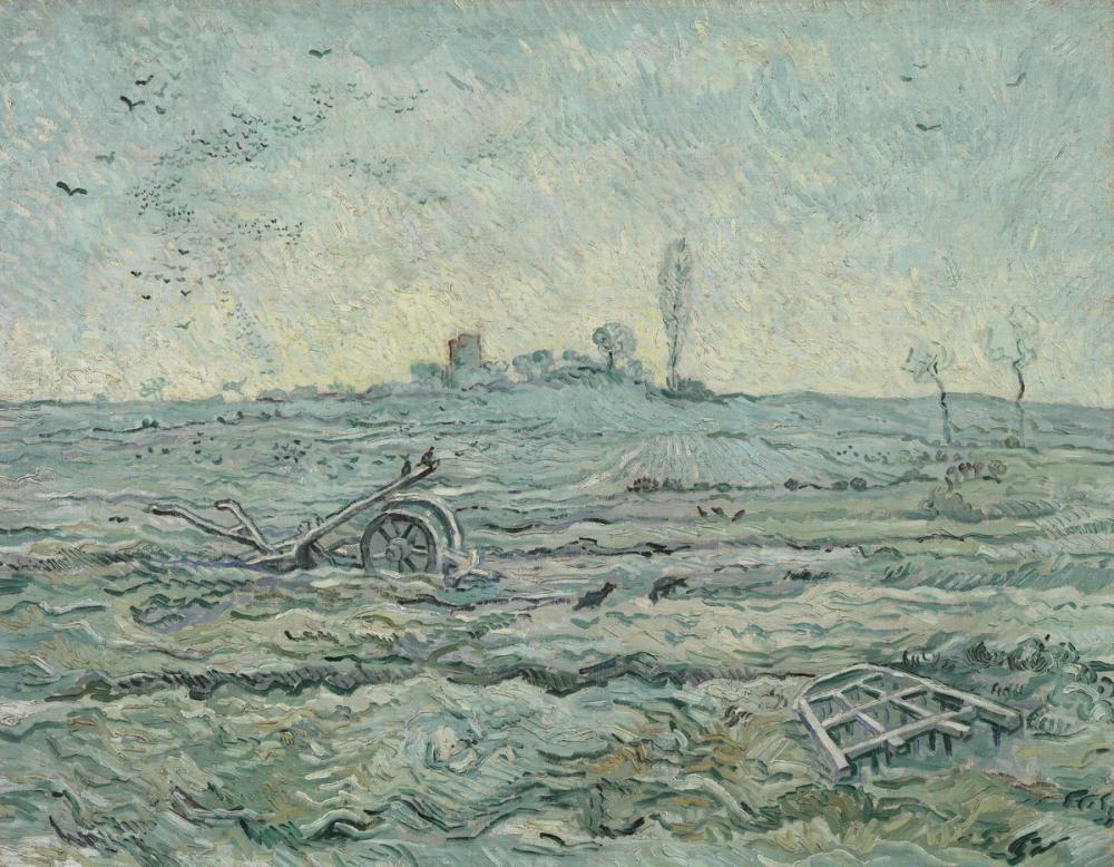Vincent van Gogh, Snowy Field with a Harrow, Canvas, Vincent Van Gogh, kanvas tablo, canvas print sales