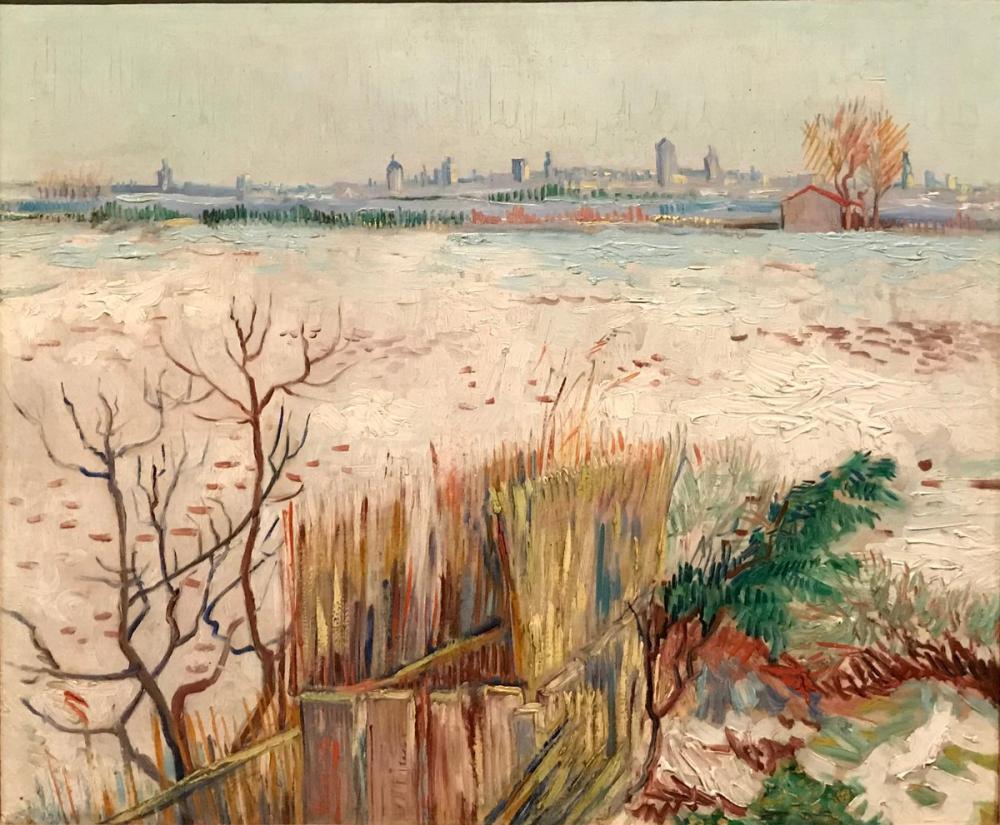 Vincent van Gogh, Snowy Landscape with Arles in the Background, Canvas, Vincent Van Gogh, kanvas tablo, canvas print sales