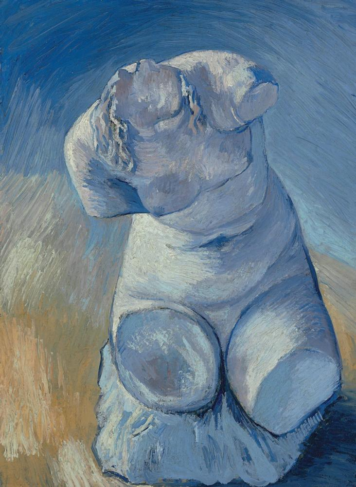 Vincent van Gogh, Statuette de Platre Torse de Femme Vue de Face, Canvas, Vincent Van Gogh, kanvas tablo, canvas print sales