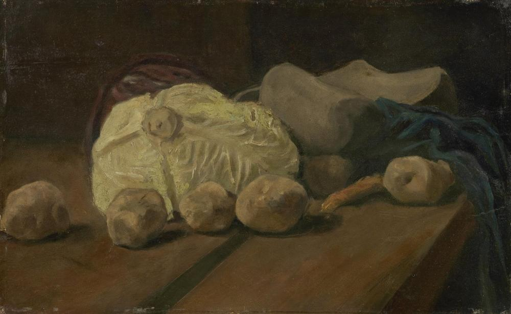 Vincent van Gogh, Still Life with Cabbage and Clogs, Canvas, Vincent Van Gogh, kanvas tablo, canvas print sales
