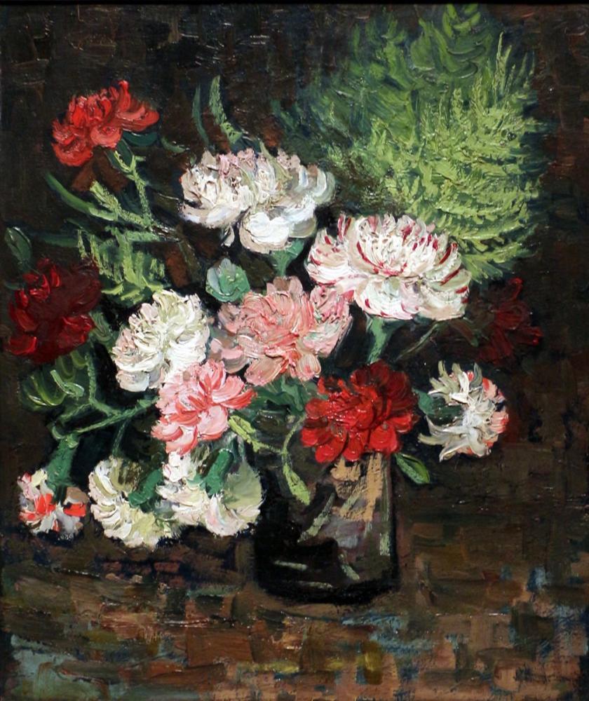 Vincent van Gogh, Still Life with Carnations, Canvas, Vincent Van Gogh, kanvas tablo, canvas print sales