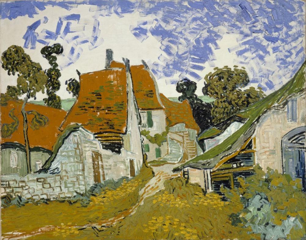 Vincent van Gogh, Auvers sur Oise deki Sokak, Kanvas Tablo, Vincent Van Gogh, kanvas tablo, canvas print sales
