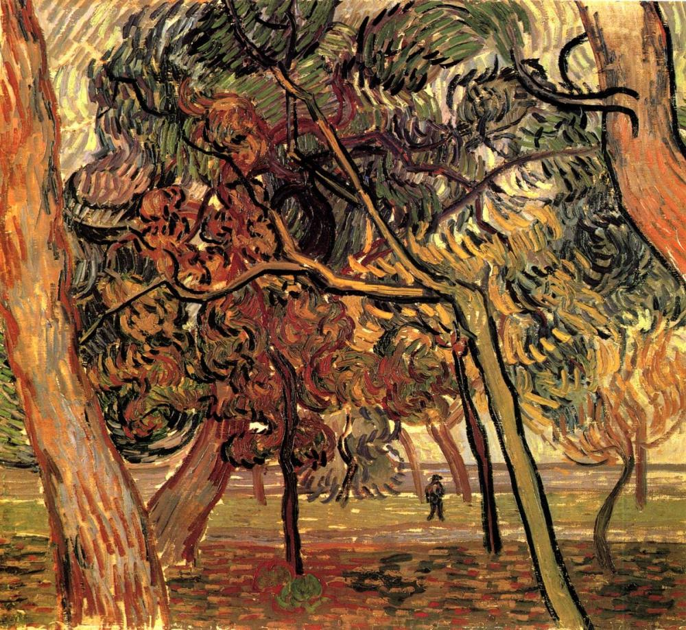 Vincent van Gogh, Study of Pine Trees, Canvas, Vincent Van Gogh, kanvas tablo, canvas print sales
