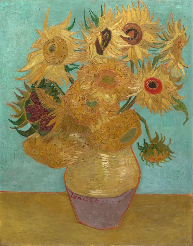 Vincent van Gogh, Ayçiçekleri, Kanvas Tablo, Vincent Van Gogh, kanvas tablo, canvas print sales