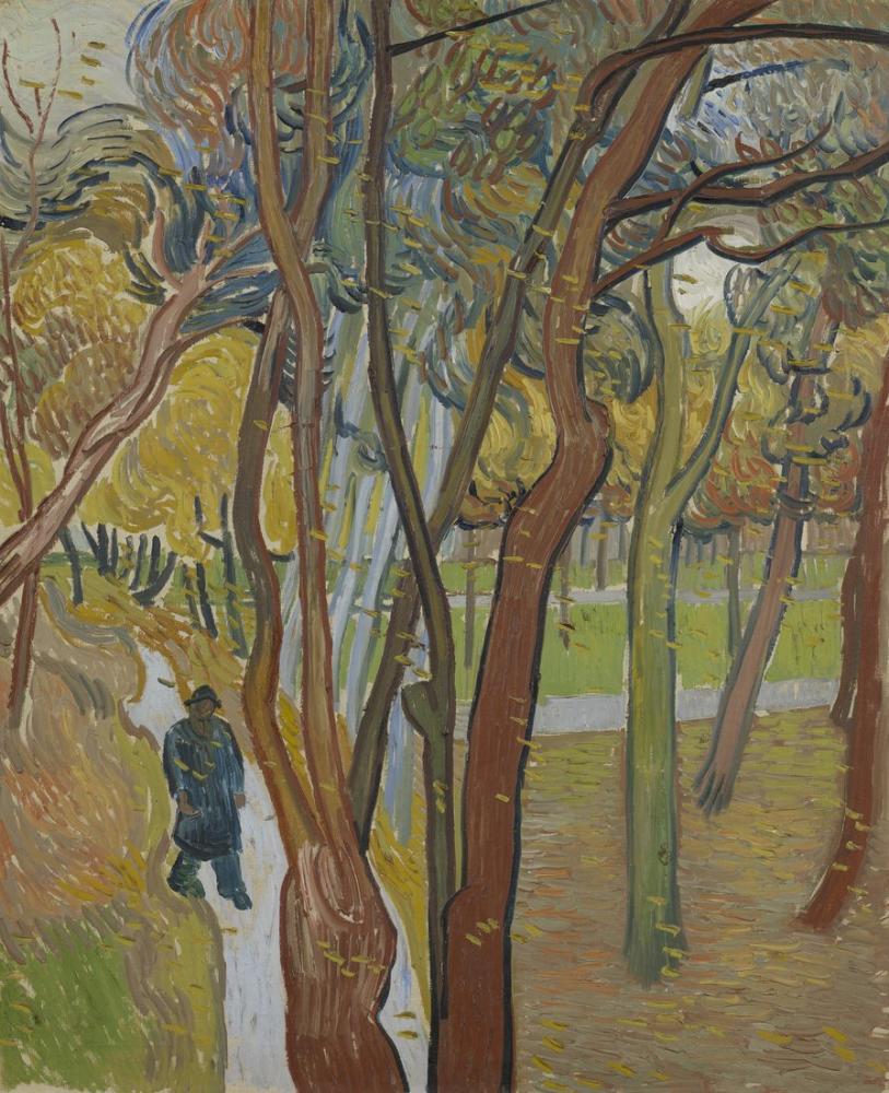 Vincent Van Gogh Aziz Paul Hastanesi nin Bahçesi, Kanvas Tablo, Vincent Van Gogh, kanvas tablo, canvas print sales