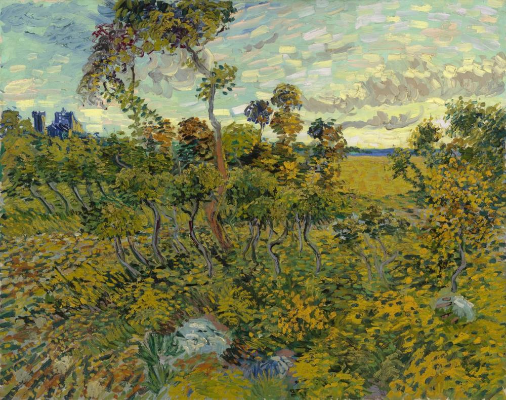 Vincent van Gogh, Sunset at Montmajour, Canvas, Vincent Van Gogh, kanvas tablo, canvas print sales
