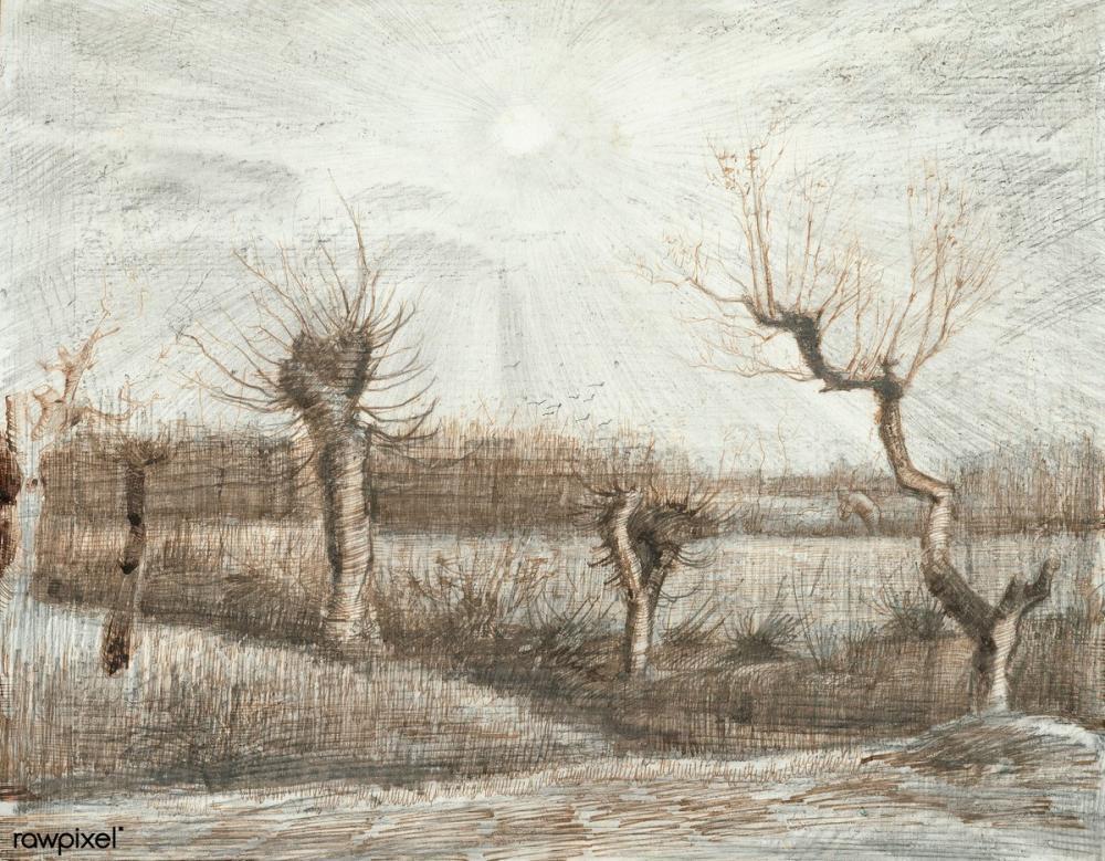 Vincent van Gogh, Tetards, Canvas, Vincent Van Gogh, kanvas tablo, canvas print sales