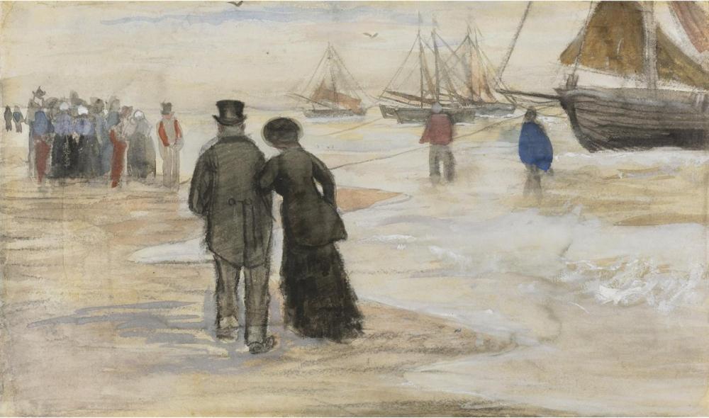 Vincent van Gogh, The Beach of Scheveningen, Canvas, Vincent Van Gogh, kanvas tablo, canvas print sales