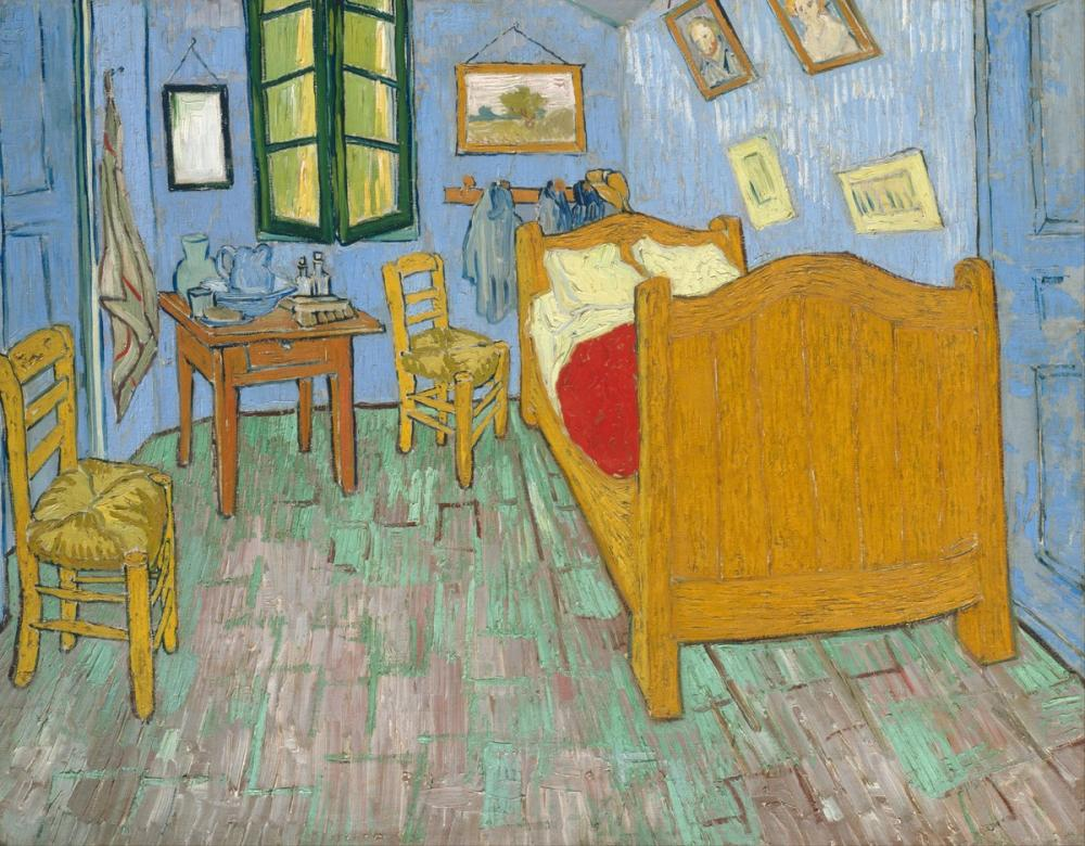 Vincent van Gogh, The Bedroom II, Canvas, Vincent Van Gogh, kanvas tablo, canvas print sales