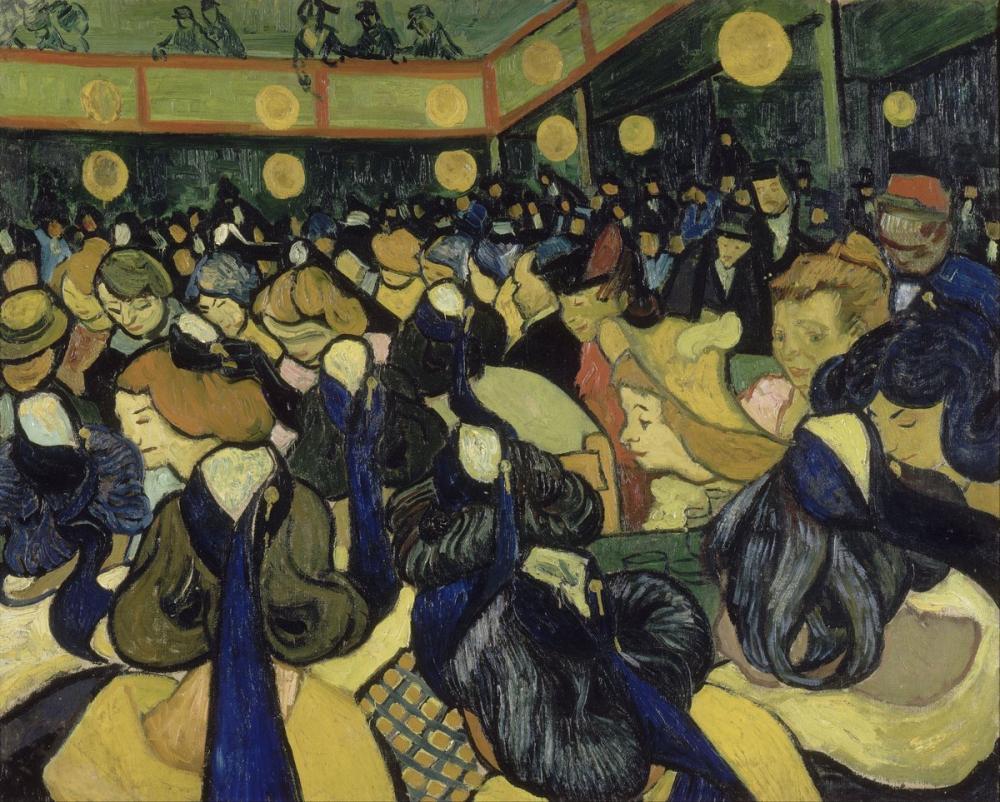 Vincent van Gogh, Arles daki Dans Salonu, Kanvas Tablo, Vincent Van Gogh, kanvas tablo, canvas print sales