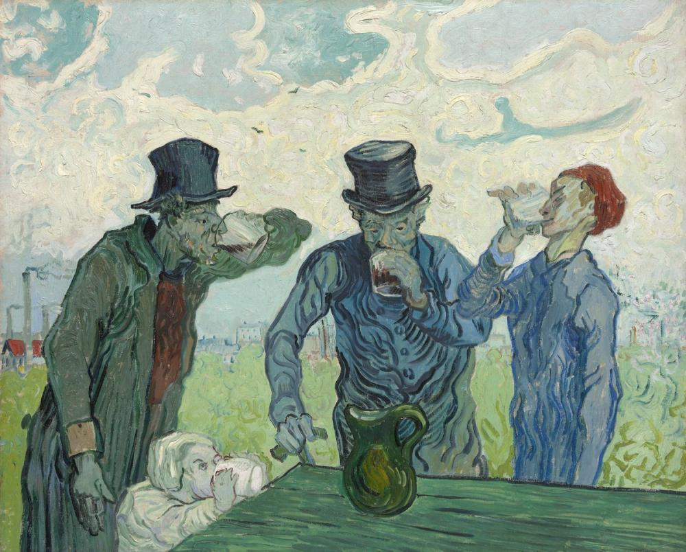Vincent van Gogh, The Drinkers, Canvas, Vincent Van Gogh, kanvas tablo, canvas print sales
