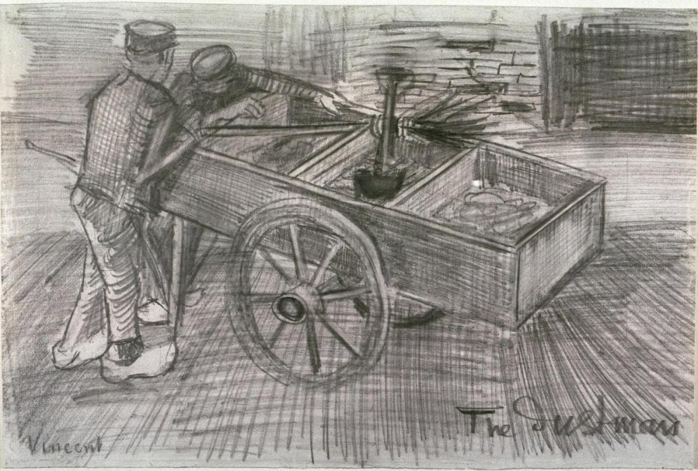 Vincent van Gogh, The Dustman, Canvas, Vincent Van Gogh, kanvas tablo, canvas print sales
