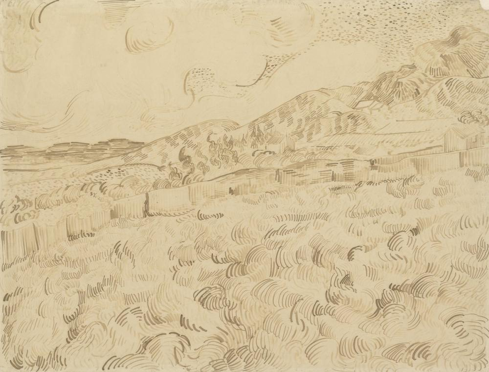 Vincent van Gogh, The Enclosed Wheatfield After a Storm, Canvas, Vincent Van Gogh, kanvas tablo, canvas print sales