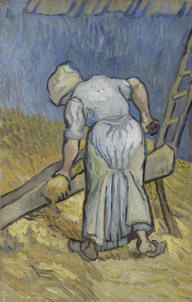 Vincent van Gogh, The Farmer Who Crushes Flax, Canvas, Vincent Van Gogh, kanvas tablo, canvas print sales