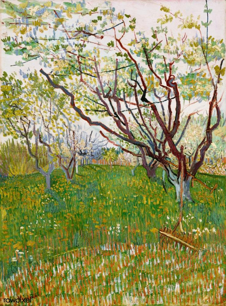 Vincent van Gogh, The Flowering Orchard, Canvas, Vincent Van Gogh, kanvas tablo, canvas print sales
