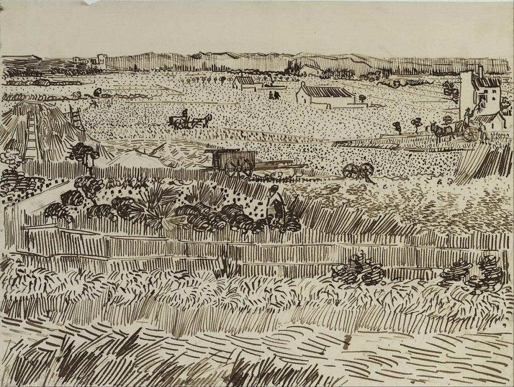 Vincent van Gogh, The Harvest for Émile Bernard, Canvas, Vincent Van Gogh, kanvas tablo, canvas print sales