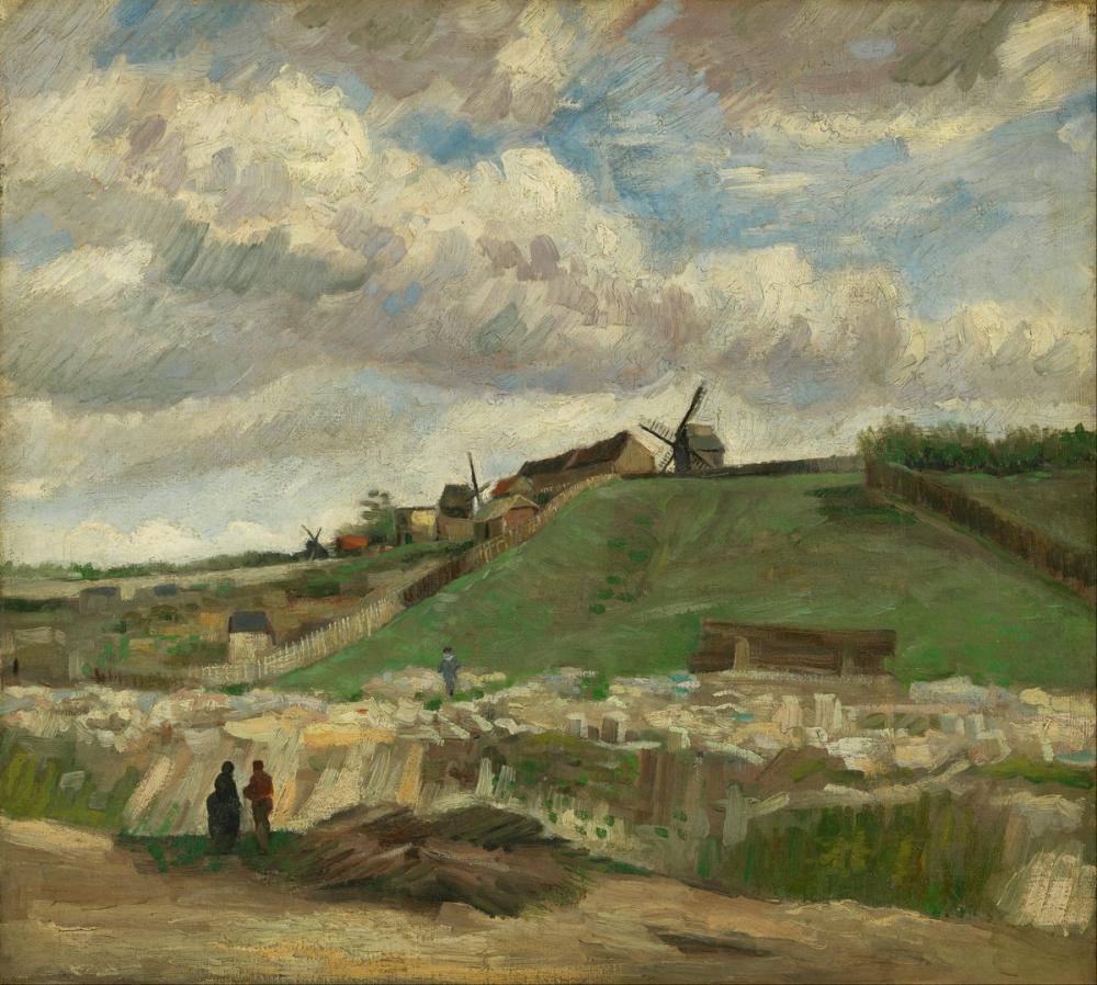 Vincent van Gogh, The Hill of Montmartre with Stone Quarry, Canvas, Vincent Van Gogh, kanvas tablo, canvas print sales