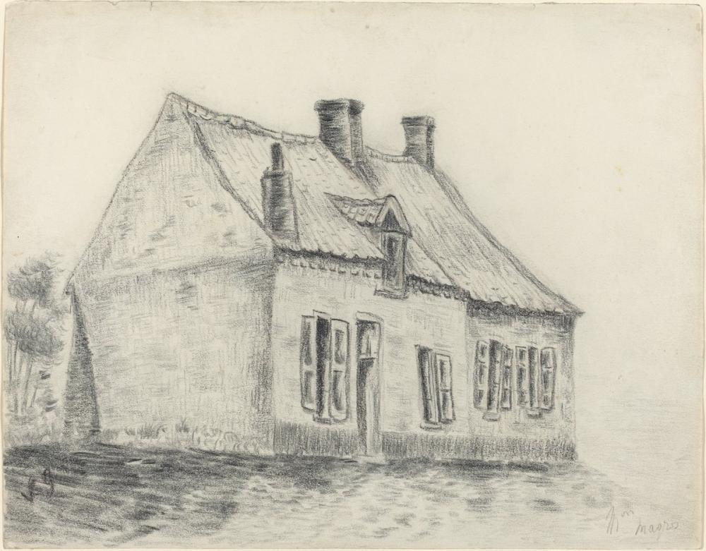 Vincent van Gogh, The Magrot House, Canvas, Vincent Van Gogh, kanvas tablo, canvas print sales