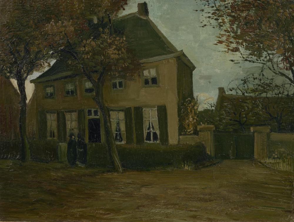 Vincent van Gogh, The Parsonage in Nuenen, Canvas, Vincent Van Gogh, kanvas tablo, canvas print sales