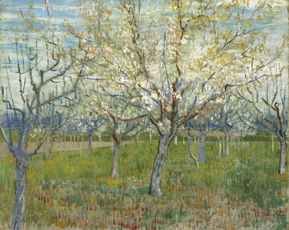 Vincent van Gogh, The Pink Orchard, Canvas, Vincent Van Gogh, kanvas tablo, canvas print sales