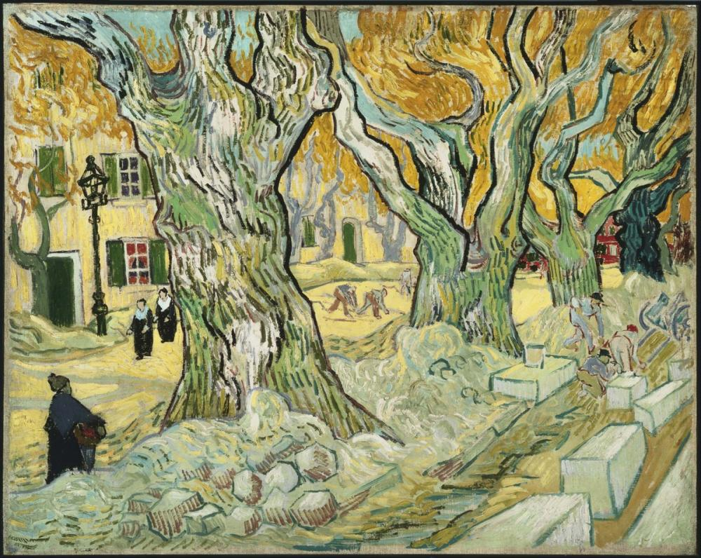 Vincent Van Gogh, Yol Kurucular, Kanvas Tablo, Vincent Van Gogh, kanvas tablo, canvas print sales