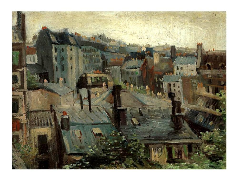 Vincent van Gogh, Paris in Çatıları, Kanvas Tablo, Vincent Van Gogh, kanvas tablo, canvas print sales