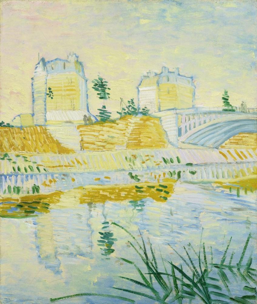 Vincent van Gogh, The Seine with the Pont de Clichy, Canvas, Vincent Van Gogh, kanvas tablo, canvas print sales