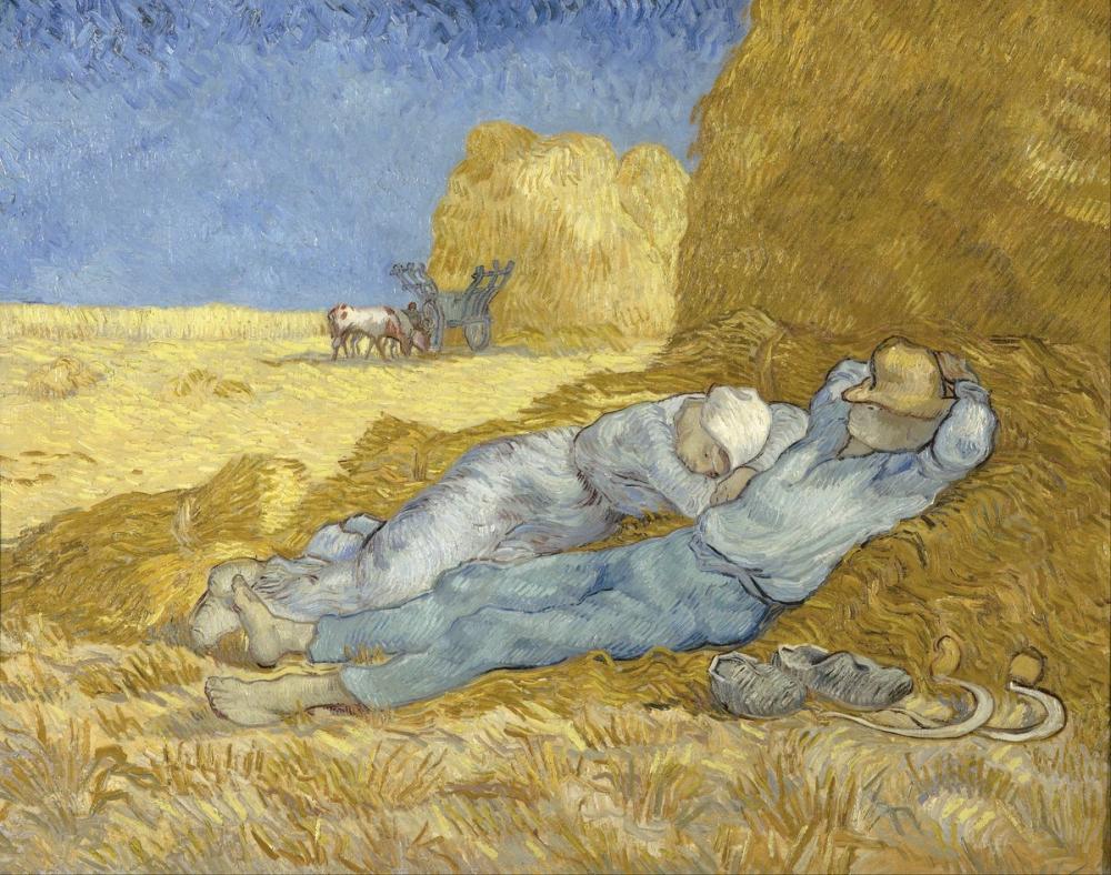 Vincent van Gogh, The Siesta, Canvas, Vincent Van Gogh, kanvas tablo, canvas print sales