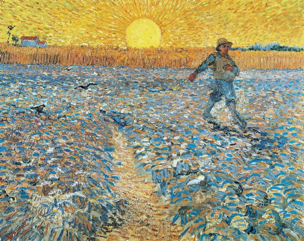 Vincent van Gogh, The Sower, Canvas, Vincent Van Gogh, kanvas tablo, canvas print sales