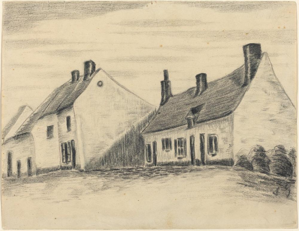 Vincent van Gogh, The Zandmennik House, Canvas, Vincent Van Gogh, kanvas tablo, canvas print sales