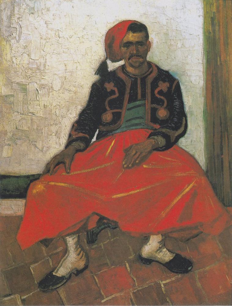 Vincent van Gogh, The Zuave, Sitting, Canvas, Vincent Van Gogh, kanvas tablo, canvas print sales