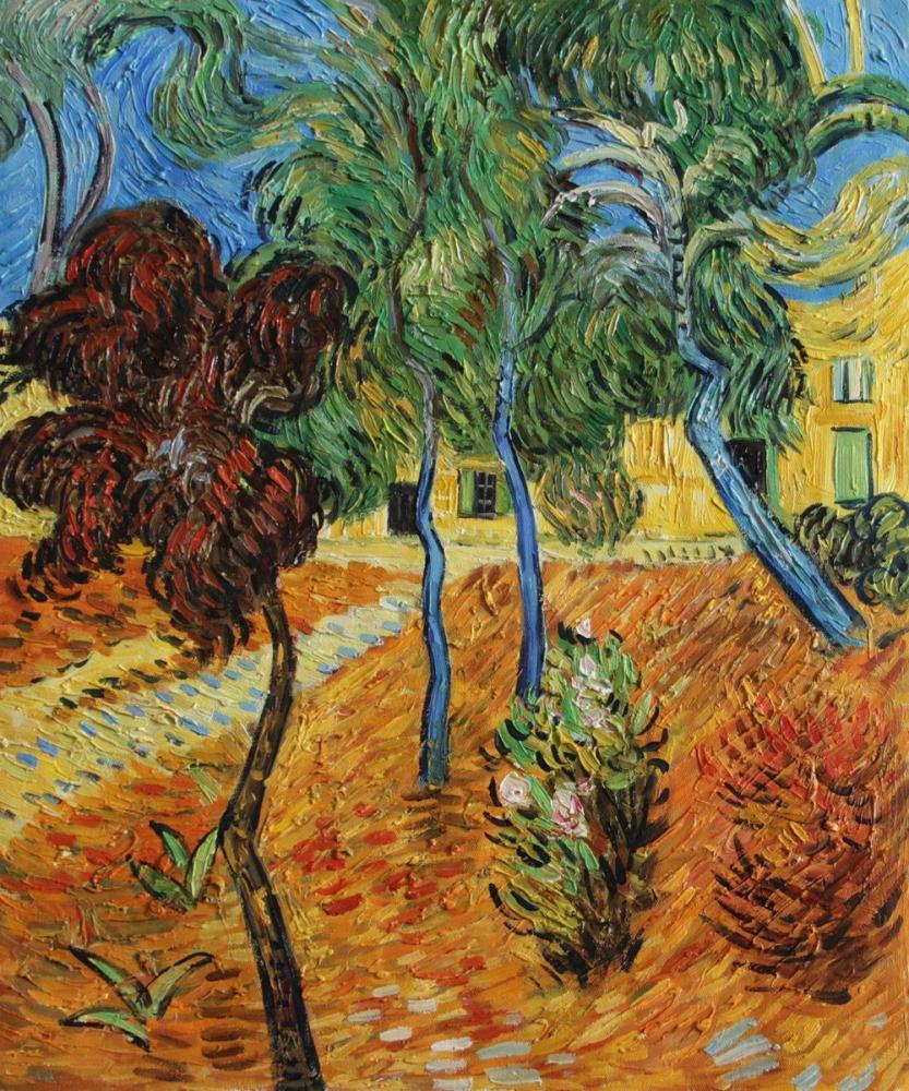 Vincent van Gogh, Trees in the Asylum Garden, Canvas, Vincent Van Gogh, kanvas tablo, canvas print sales