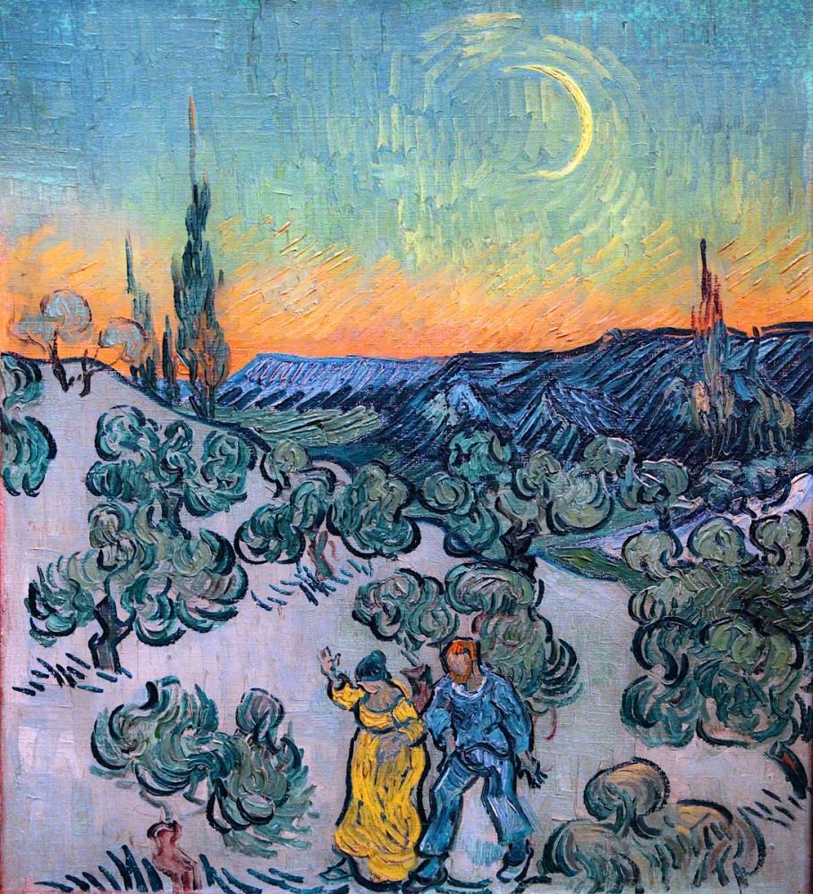 Vincent van Gogh, Twilight Walk, Canvas, Vincent Van Gogh