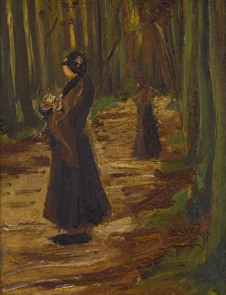 Vincent van Gogh, Two Women in a Wood, Canvas, Vincent Van Gogh, kanvas tablo, canvas print sales