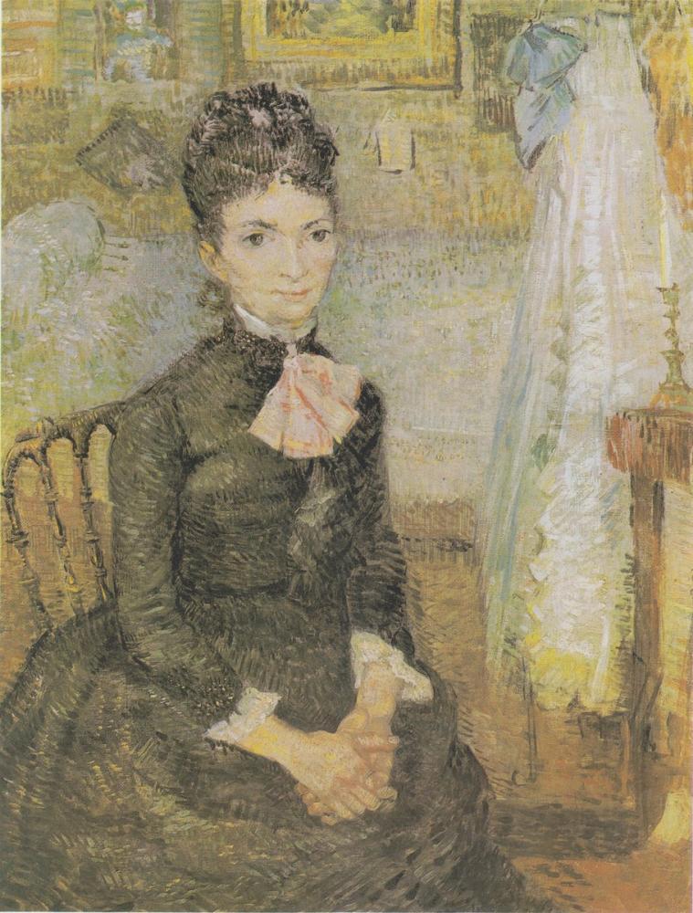 Vincent van Gogh, Van Gogh s Wife, Sitting Next to a Cradle, Canvas, Vincent Van Gogh, kanvas tablo, canvas print sales