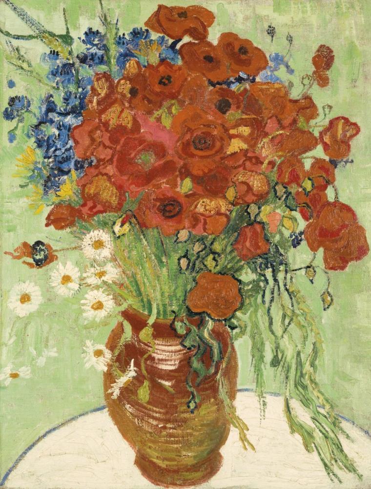 Vincent van Gogh, Vase with Cornflowers and Poppies, Canvas, Vincent Van Gogh, kanvas tablo, canvas print sales