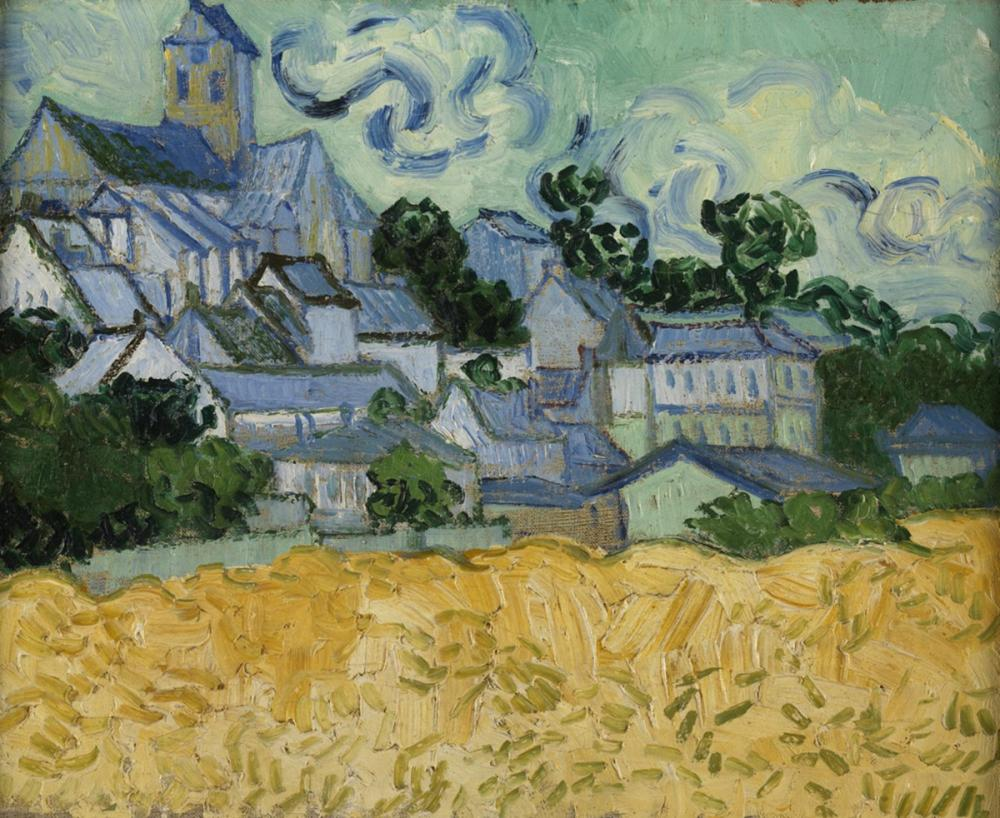 Vincent van Gogh, View of Auvers with Church, Canvas, Vincent Van Gogh, kanvas tablo, canvas print sales
