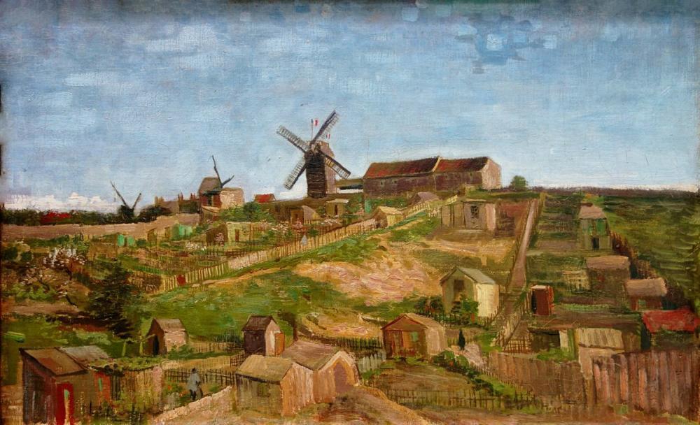 Vincent van Gogh, View of Montmartre with Mills, Canvas, Vincent Van Gogh, kanvas tablo, canvas print sales