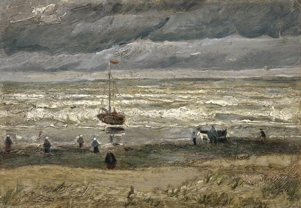 Vincent van Gogh, Scheveningen de Deniz Manzarası, Kanvas Tablo, Vincent Van Gogh, kanvas tablo, canvas print sales